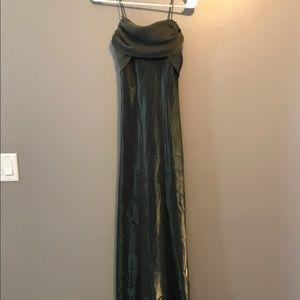 Green silk gown